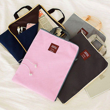 Documents Stationery File Folder Storage Pouch Holder Zipper Bag School OfficeHU