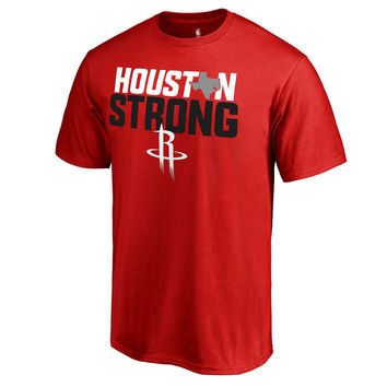 Men's Houston Rockets Fanatics Branded Red Houston Strong T-Shirt