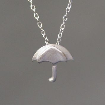 Tiny Umbrella Pendant in Sterling Silver by michellechangjewelry