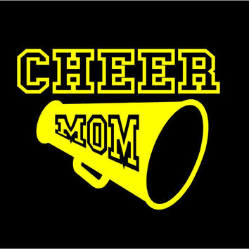 Cheer Mom car decal vehicle auto window decal custom vinyl sticker Cheerleader decal cheer decal