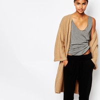 Micha Lounge Kimono Sleeve Ribbed Cardigan at asos.com