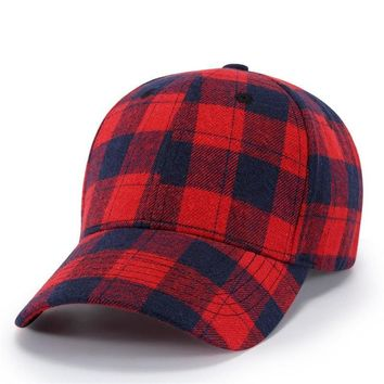 Trendy Winter Jacket [WUKE] Brand Gorras Plaid Sunhat Embroidery Bone Baseball Cap Personality Snapback Hats For Men Women Hip Hop Cap Casqutte Gift AT_92_12