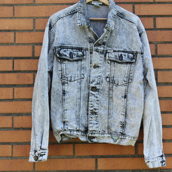 Vintage 1980's Men's Guess Wash Denim Jacket vsN1HKaUZ