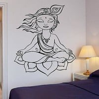 Wall Sticker Yoga Buddha Buddhism Om Zen Cool Art Bedroom Unique Gift (z2583)