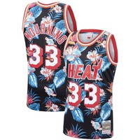 Alonzo Mourning Miami Heat Mitchell & Ness Floral Fashion Hardwood Classics Swingman Jersey - Best Deal Online