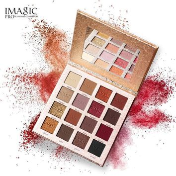 IMAGIC New Arrival 16 Color Palette Shimmer Pigmented EyeShadow