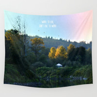 Work to Live Wall Tapestry by RDelean