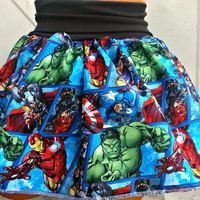 Comic Books Super Hero American Avenger retro geek Skirt shirt