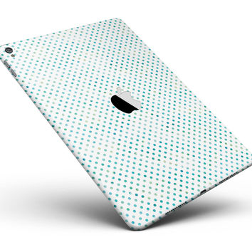 "Tiny Blue-Green Watercolor Polka Dots Full Body Skin for the iPad Pro (12.9"" or 9.7"" available)"