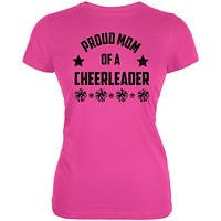 Proud Mom Cheerleader Cheerleading Juniors Soft T Shirt