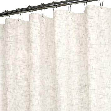 Ultra Spa by Park B. Smith Heather Strie Fabric Shower Curtain (Beige/Khaki)