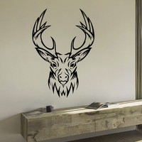 Wall Decal Vinyl Sticker Wild Animal Deer Reindeer Decor Sb424