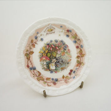 Vintage Royal Doulton China, Brambly Hedge Small Plate, Brambly Hedge Autumn Plate, Collectable Royal Doulton