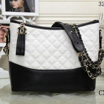 DCCKXT7 Chanel' Women Fashion Multicolor Quilted Personality Wandering Bucket Bag Single Shoulder Messenger Bag