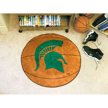 Michigan State Spartans NCAA Basketball Round Floor Mat (29)