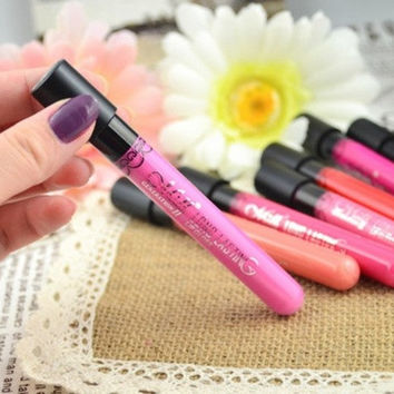 New 34 Colors Beauty Makeup Waterproof Lip Pencil Lipstick Lip Gloss Lip Pen = 1946491780