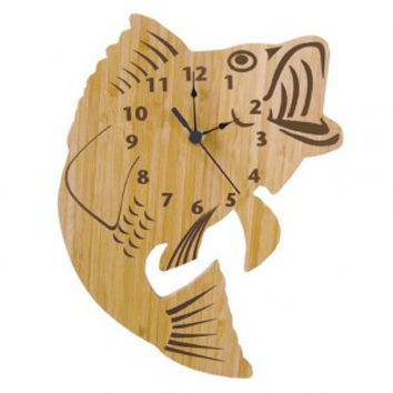 Bamboo-Fish Wall Clock