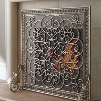"Janice Minor - ""La Boheme"" Fireplace Screen - Horchow"