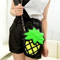 Cute Pineapple Shape Cross Body Bag