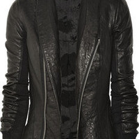 Rick Owens | Fitted leather jacket | NET-A-PORTER.COM