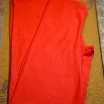 Adult Leggings, One Size Coral Solid