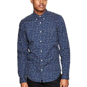 Gap Men Floating Seeds Print Shirt