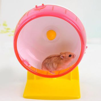 1pcs Plastic Mouse Hamster Wheel Rat Rabbit Jogging Exercise Sport Running Toys Wheels for Hamsters Random Color