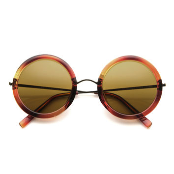 Womens Sunglasses Designer Inspired Round Frames 8907