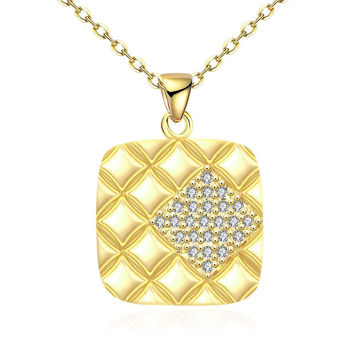 Gold Plated Square Necklace