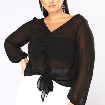 Marrakech Ruched Top - Black