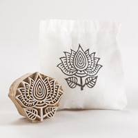 Medium Wooden Flower Stamp