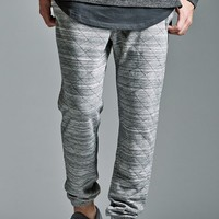 On The Byas The Varsity Fit Quilted Fleece Jogger Pants - Mens Pants - Gray