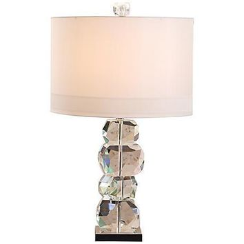 Stacked Gemstone Crystal Short Table Lamp