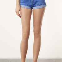 MOTO High Waisted Denim Shorts