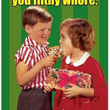 Eat The Fruitcake Card - Humor Paper Card, Greeting Card, Funny Christmas Cards - Free Shipping