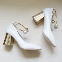 Pearl Mary Jane Pumps