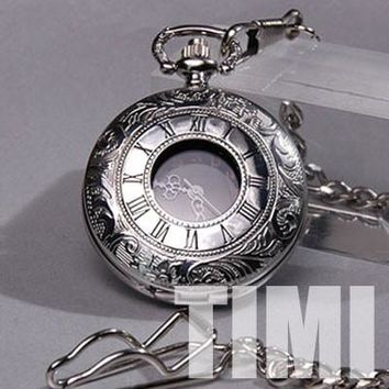 Rare 18 Century Style Stainless Steel Case Pocket Watch