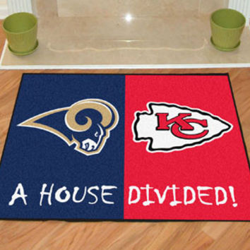 House Divided - Rams / Chiefs House Divided Mat