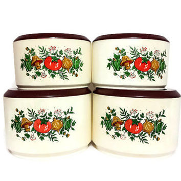 Shop vintage kitchen canister sets on wanelo for Retro kitchen set of 6 spice tins