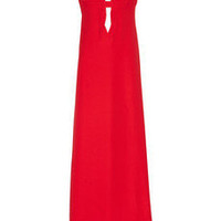 Valentino|Plunge-front silk-cady gown|NET-A-PORTER.COM