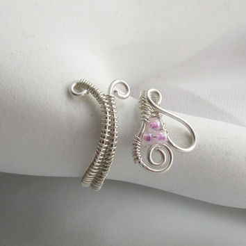 Adjustable Sterling Silver  Wire Wrap Toe Upper by studiodct