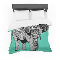 "Pom Graphic Design ""Elephant of Namibia Color"" Cotton Duvet"