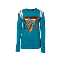 Miami Dolphins NFL Womens Baby Jersey Long Sleeve Crewneck
