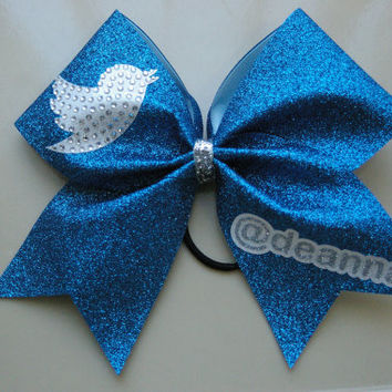 Twitter Cheer Bow