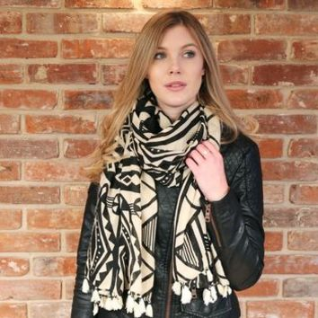 Bold African Print Scarf