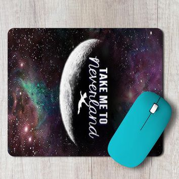 Rectangle Mouse Pad Take Me To Neverland