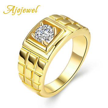 Ajojewel #8-10 Cool Men's Wedding Engagement Jewelry Fashion Man Finger Rings With Cubic Zirconia