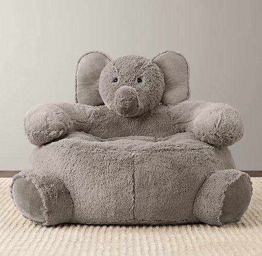 Cuddle Plush Elephant Chair From Rh Baby Amp Child Relatively