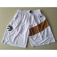 Toronto Raptors Basketball White/Gold Swingman Short