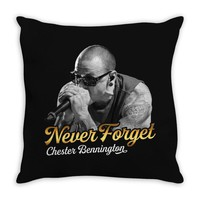 Never Forget, Chester Bennington Throw Pillow